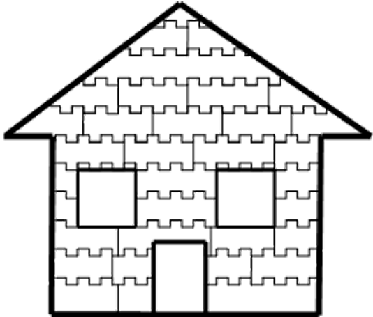 image of house built with Izodom building material