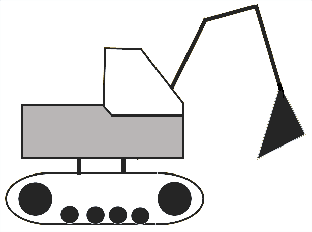 image of a digger preparing the foundation of a new house